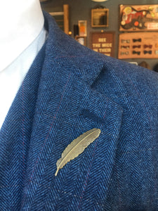 Bronze Feather Lapel Pin