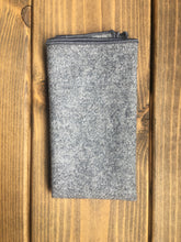 Load image into Gallery viewer, Grey Wool Pocket Square