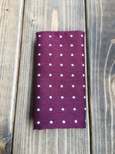 Load image into Gallery viewer, Berry Dot Cotton Pocket Square