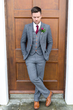 Load image into Gallery viewer, Harrogate Grey Wool Trousers