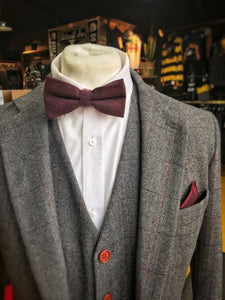 Berry Cotton Bow Tie