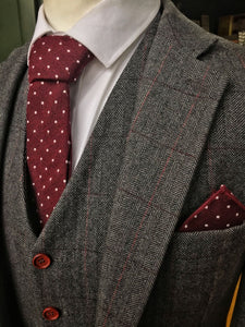 Berry Dot Cotton Tie