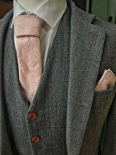 Load image into Gallery viewer, Pale Pink Wool Pocket Square