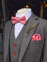 Load image into Gallery viewer, Raspberry Pink Wool Bow Tie