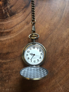 Bronze Quartz Pocket Watch