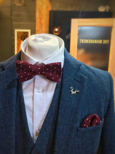 Berry Dot Cotton Bow Tie