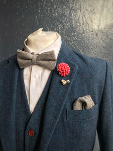 Grey Wool Pocket Square