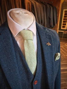 Pale Green Wool Tie