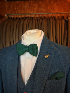 Racing Green Knitted Pocket Square