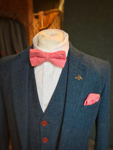 Raspberry Pink Wool Pocket Square