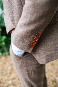 Burford Brown Wool Trousers