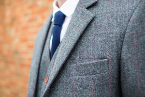 Harrogate Grey Wool Blazer