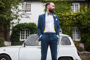 Southwold Blue Wool Trousers