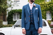 Load image into Gallery viewer, Southwold Blue Wool Waistcoat