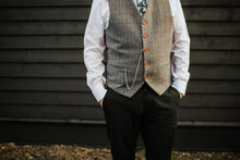 Load image into Gallery viewer, Harrogate Grey Wool Waistcoat