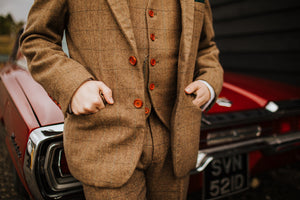 Burford Brown Wool Blazer