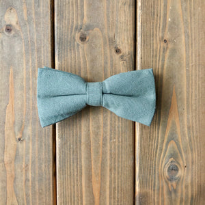 Olive Cotton Bow Tie
