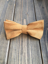 Load image into Gallery viewer, Mustard Cotton Bow Tie