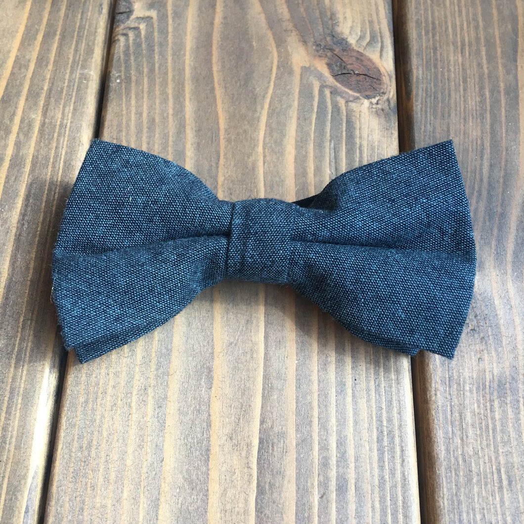 Junior Forest Green Cotton Bow Tie