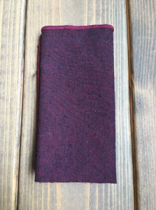 Berry Cotton Pocket Square