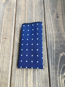 Navy Dot Cotton Pocket Square