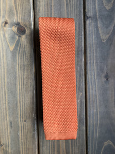 Orange Knitted Tie