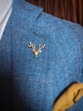 Load image into Gallery viewer, Burnished Gold Stag Lapel Pin
