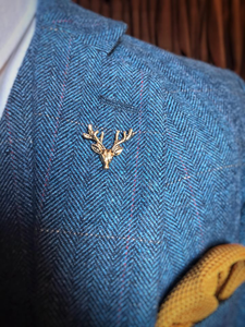 Burnished Gold Stag Lapel Pin