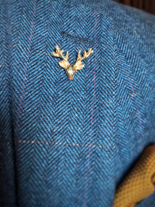 Gold Stag Lapel Pin