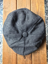 Load image into Gallery viewer, Charcoal Herringbone Newsboy Hats