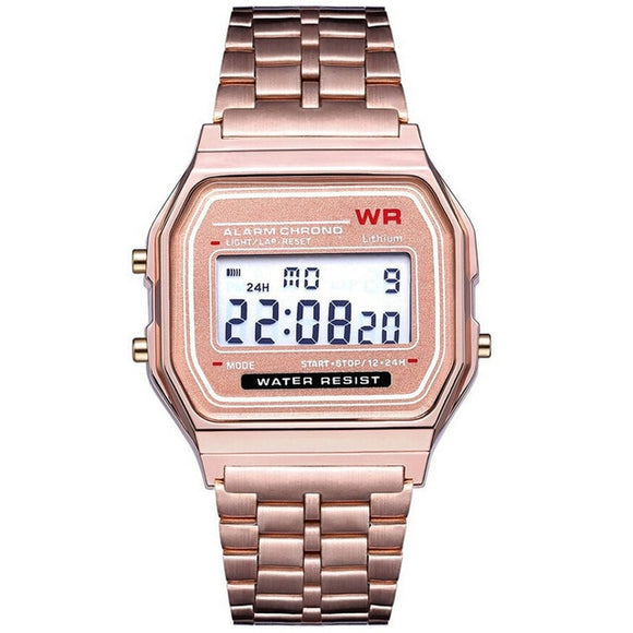 New Led Digital Waterproof Quartz Wrist Watch Dress Golden Wrist Watch Women Men Curren Watch Men Часы Мужские Erkek Kol Saati
