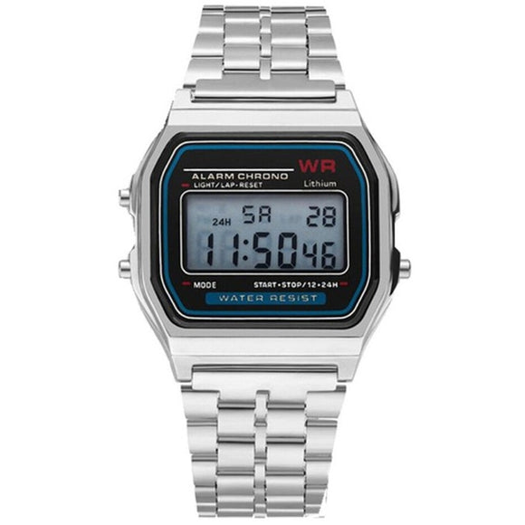 Classic Metal Case and Band Digital Water-Resistant Watch  --  FREE SHIPPING