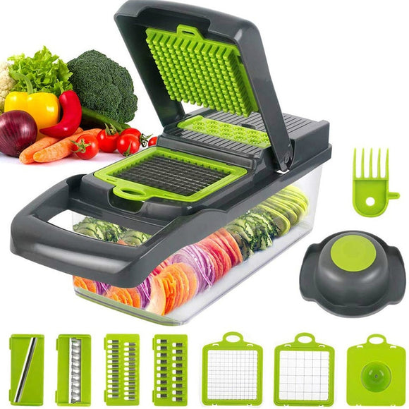Multifunctional Vegetable and Fruit Slicer Grater Shredder with Drain Basket 8 In 1 Gadgets Kitchen Accessories -- FREE SHIPPING