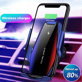 Wireless 15W Fast Charger/Car Holder with Automatic Clamping for Samsung S20 S10 iPhone 11 Pro XS XR X 8 Infrared Sensor Phone Holder Mount -- FREE Shipping