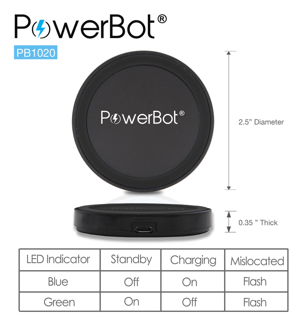 PowerBot® PB1020 Qi Enabled Wireless Charger Charging Pad