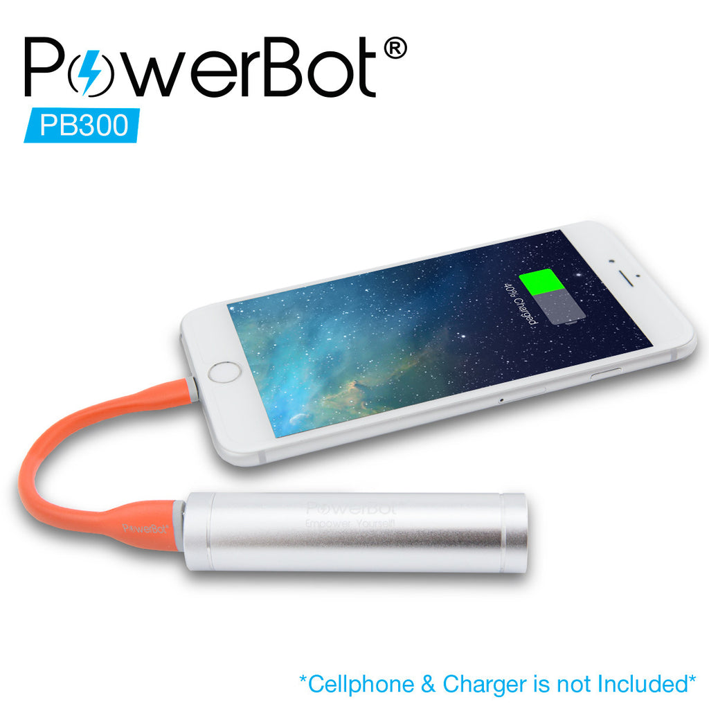 [Apple MFi Certified] PowerBot® PB300 Apple MFi Lightning Cable 5.90in / 15cm Data & Charging Handy Bendy Dandy, Premium Silicon for iPhone 6, 6 Plus, 5S, 5, 5C, iPad, iPad Air, iPad Mini, iPod, and all Lightning devices - SoundBot