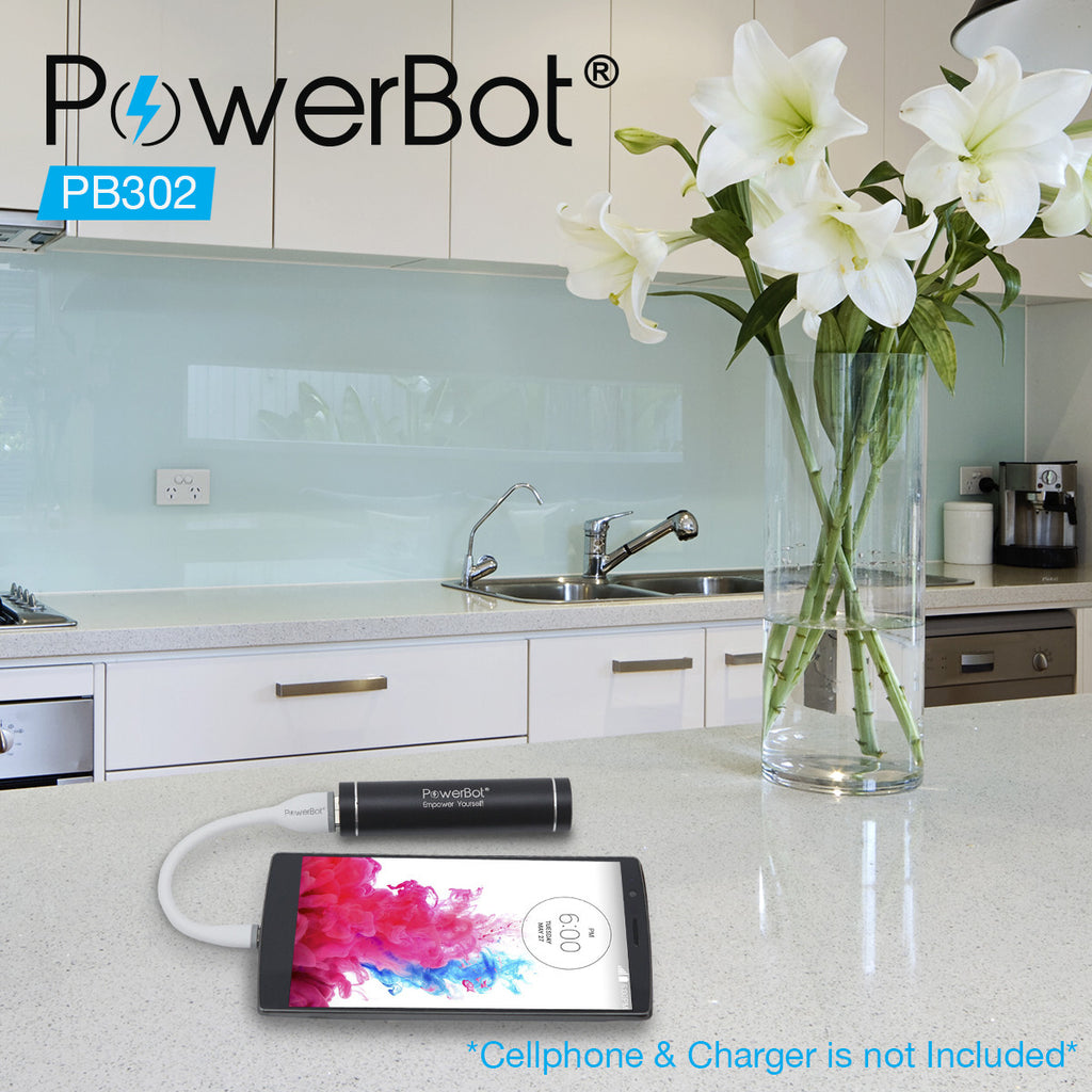 PowerBot® PB302 Micro USB Cable 5.90in / 15cm Data & Charging Cable