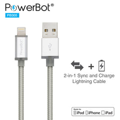 PowerBot® PB305 Smart LED Lightning Sync & Charge USB Cable