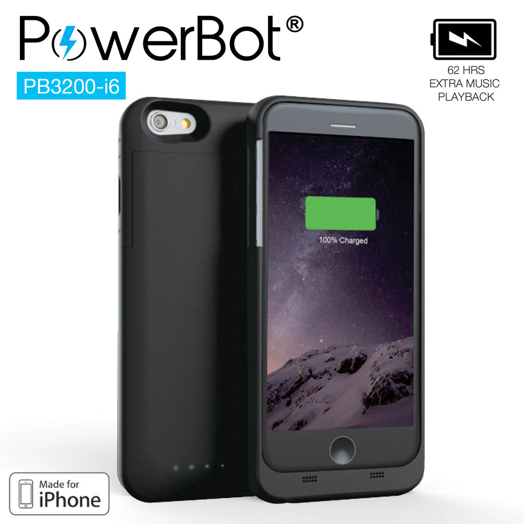 MFi PowerBot® PB3200-i6 Battery Charger Case for iPhone 6 - SoundBot