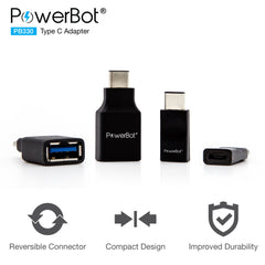 PowerBot® PB330 4-Pack USB Type-C to USB 3.0 Type A + Micro USB Adapter Convert Connectors - SoundBot