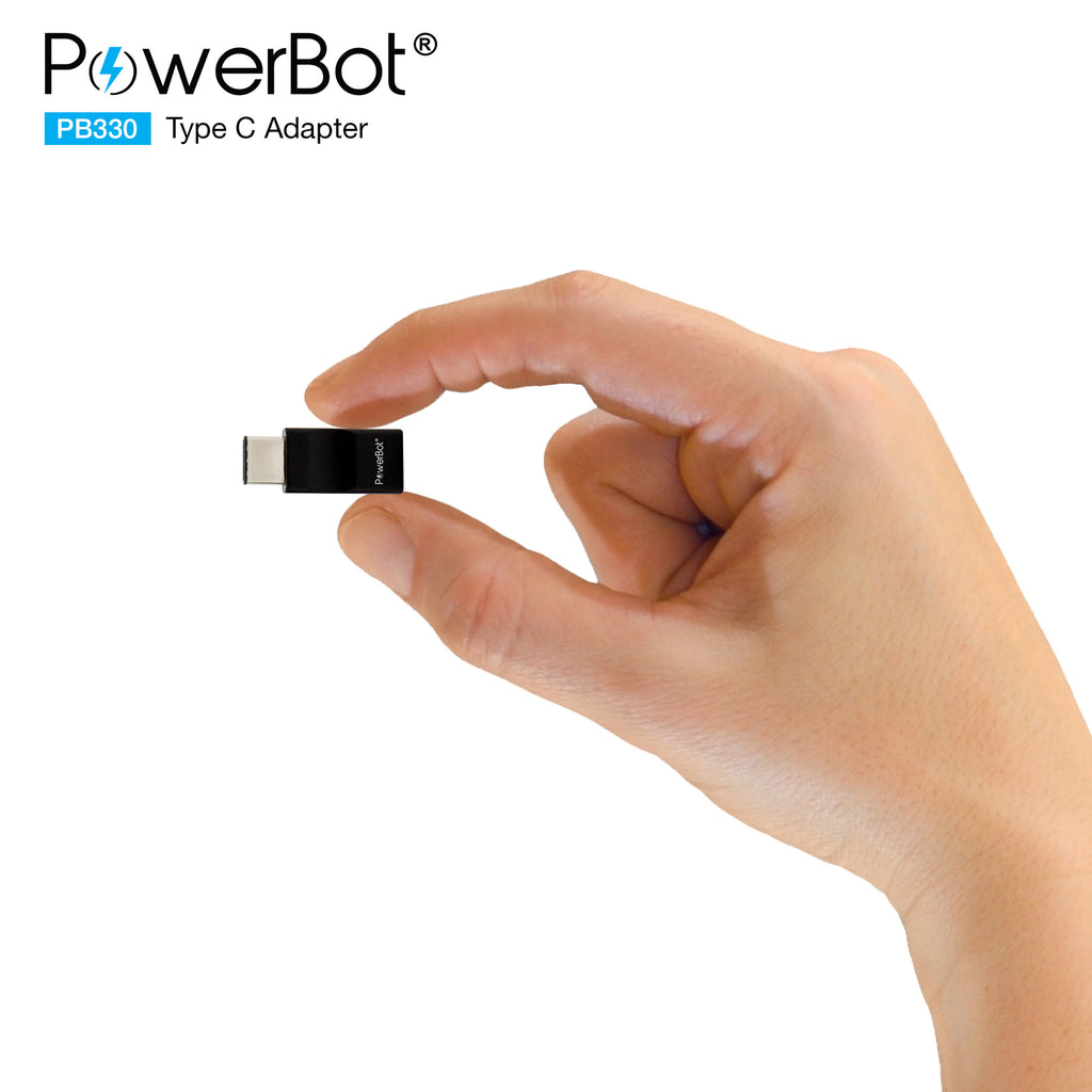 PowerBot® PB330 4-Pack USB Type-C to USB 3.0 Type A + Micro USB Adapter Convert Connectors