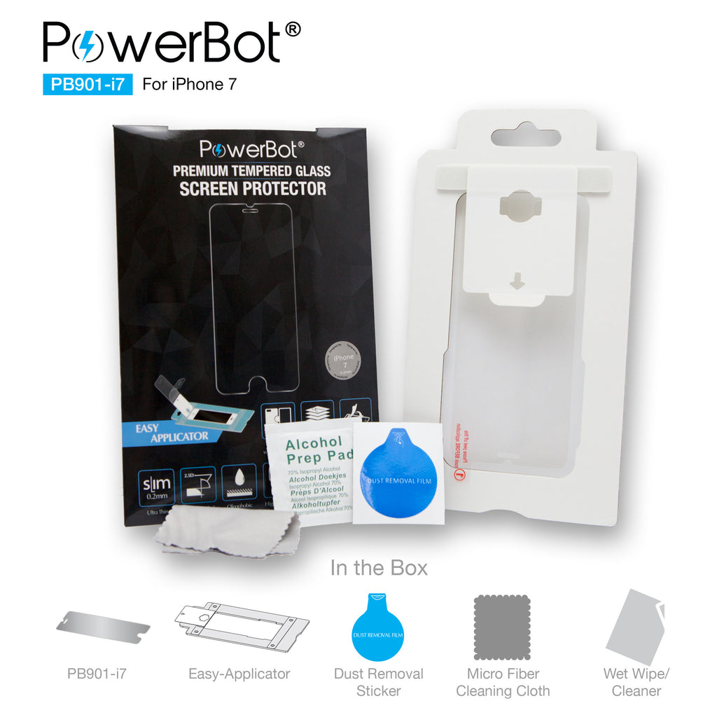 [2PK] PowerBot® PB901-i7 Ultra Slim 0.2mm Premium Tempered Glass Screen Protector