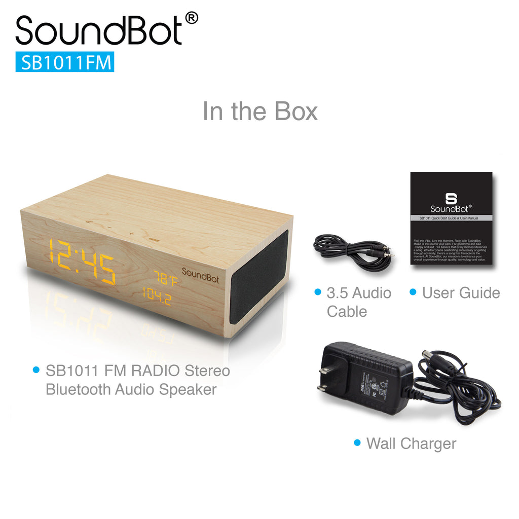 SoundBot SB1011 FM RADIO Stereo Bluetooth Audio Speaker