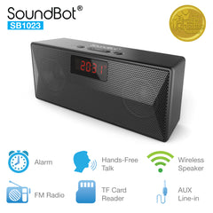 SB1023 Bluetooth Speaker FM Radio Alarm Clock