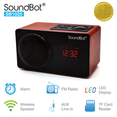 SB1025 Bluetooth Speaker with FM Radio and Alarm Clock