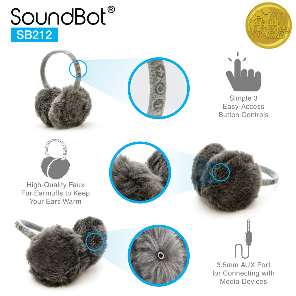 SoundBot® SB212 Wireless Musical Earmuffs
