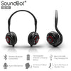 SoundBot® SB240 Red Bluetooth Headphone Wireless Headset for Music Streaming & HandsFree Calling
