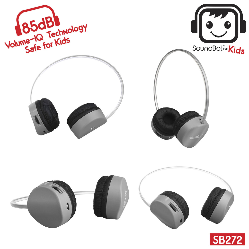 SoundBot® for Kids SB272 Volume-IQ Techonolgy 85dB Bluetooth V4.1 Headphone - SoundBot