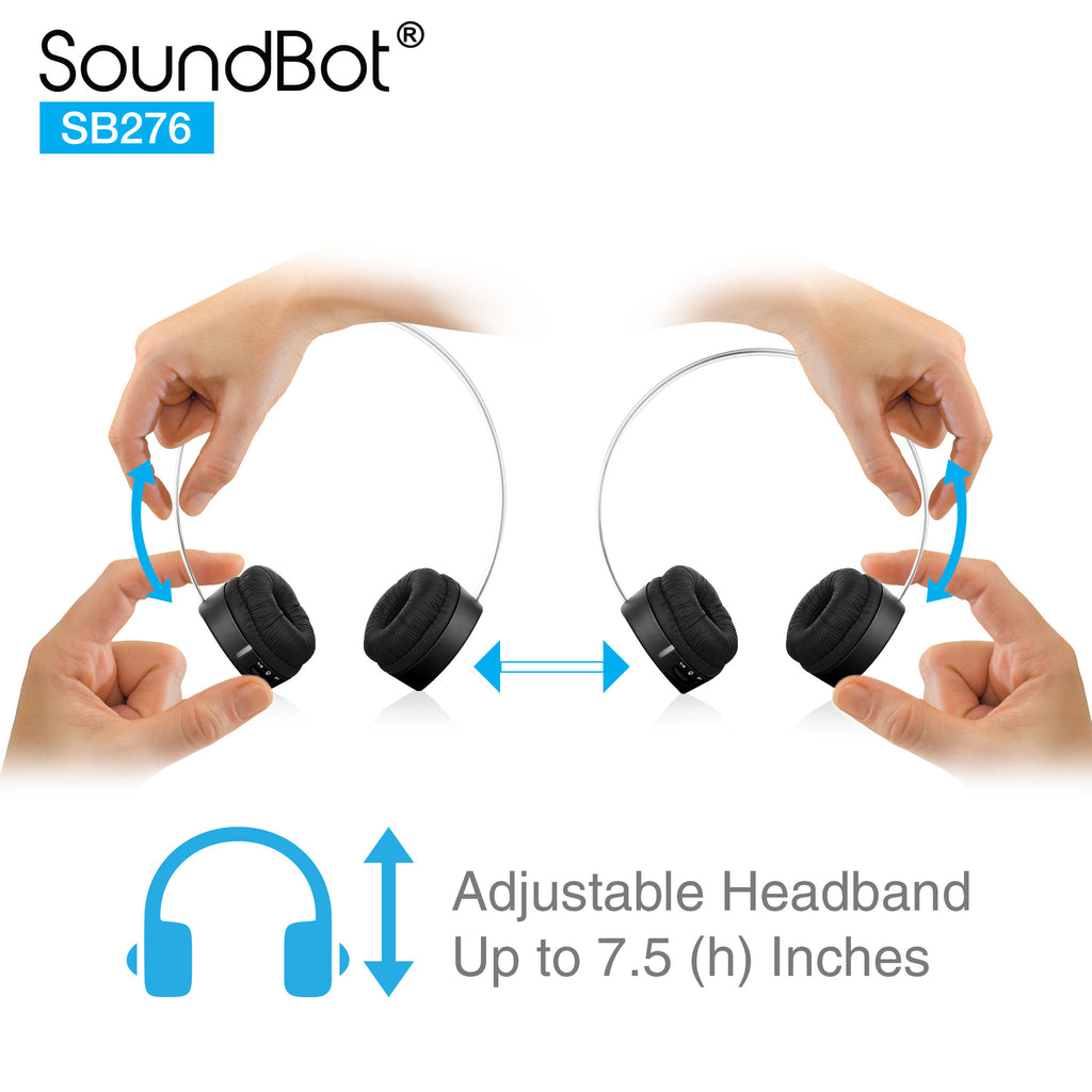 SoundBot® for Kids SB276 Volume-IQ Techonolgy 85dB Bluetooth V4.1 Headphone