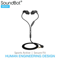 SoundBot® SB305 Headset Earphone w/ In-Line Mic